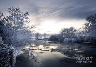 Cold River Flow Art Print by Angel  Tarantella