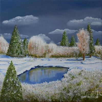 Painting - Cold Sky 1 by Melvin Turner