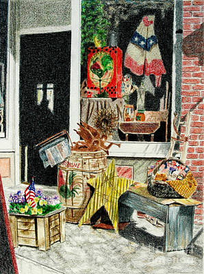 Still Life Drawings - Cold Spring Window Right by Glenda Zuckerman