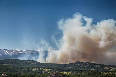 Cold Springs Fire Boulder County Colorado Art Print by James BO Insogna