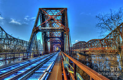 Photograph - Cold Steel 2 The Bridges Of Memphis Tennessee Art by Reid Callaway