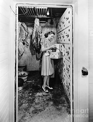 Photograph - Cold Storage Room, C1940 by Granger