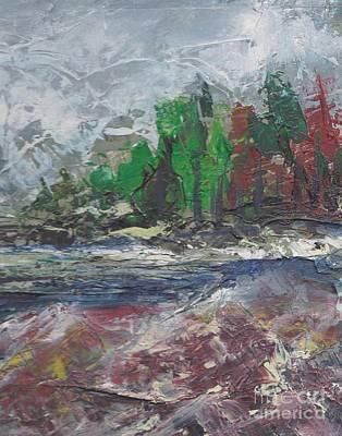 Steele Painting - Cold Stream I by Tina Steele Penn