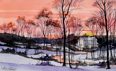 Cold Sunset Art Print by Art Scholz