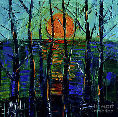Faded Painting - Cold Sunset by Mona Edulesco