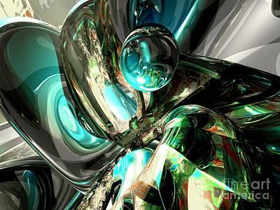 Internal Digital Art - Cold Turmoil Abstract by Alexander Butler
