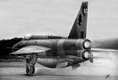 Raf Drawing - Cold War Guardian by Lyle Brown