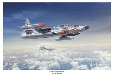 Interceptor Painting - Cold War Interceptor by Mark Karvon