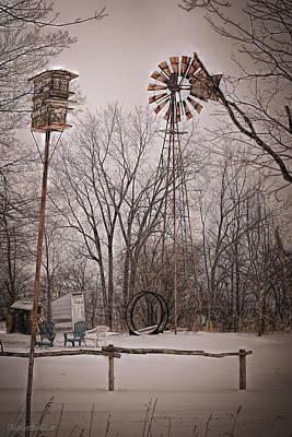 Photograph - Cold Wind Mill by LeeAnn McLaneGoetz McLaneGoetzStudioLLCcom