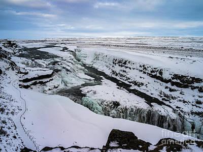 Photograph - Cold Winter Day At Gullfoss, Iceland by Benjamin Wiedmann