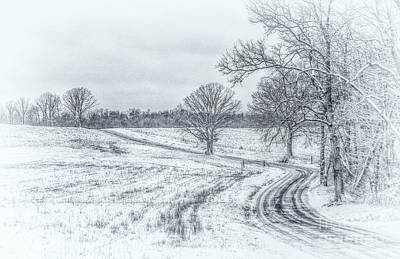 Cold Winter Morning Sketch Art Print