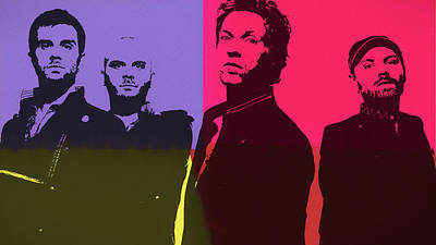 Coldplay Mixed Media - Coldplay by Dan Sproul