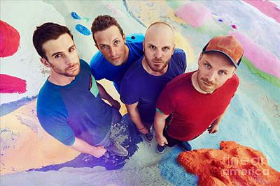 Coldplay Wall Art - Mixed Media - Coldplay by Dee Art