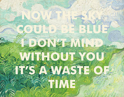 Coldplay Lyrics Art Print Art Print