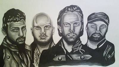 Coldplay Drawing - Coldplay by Pauline Murphy