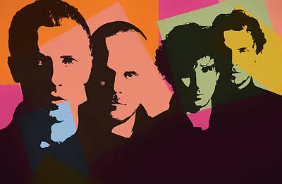 Coldplay Mixed Media - Coldplay Pop Art by Dan Sproul