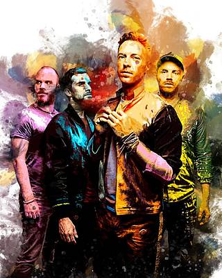 Coldplay Digital Art - Coldplay by Rinaldo Ananta