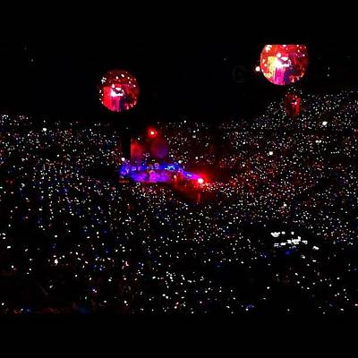 Concert Photograph - 💢coldplay Was Amazing!💢 #music by Anthony  Bates