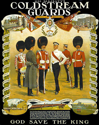 Digital Art - Coldstream Guards Poster 1914 by Carlos Diaz
