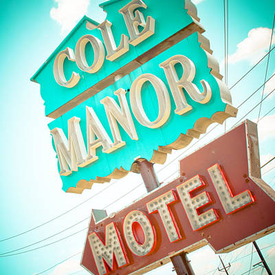 Cole Manor Motel Art Print by David Waldo