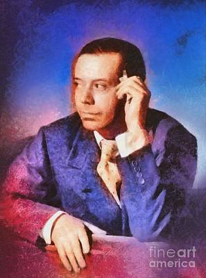 Music Paintings - Cole Porter, Music Legend by Esoterica Art Agency