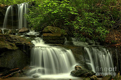 Photograph - Cole Run Cascades by Adam Jewell
