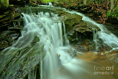 Photograph - Cole Run Cave Falls by Adam Jewell