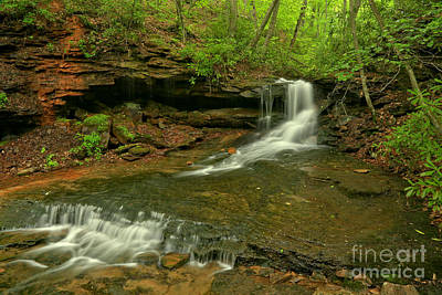Photograph - Cole Run Cave Falls Pa by Adam Jewell