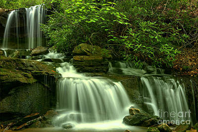 Photograph - Cole Run Falls by Adam Jewell