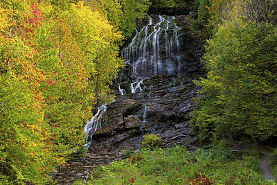 Photograph - Colebrook Nh Beaver Brook Falls by Juergen Roth