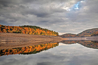 Photograph - Colebrook Reservoir - In Drought by Tom Cameron