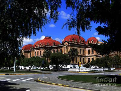 Red Roof Photograph - Colegio Benigno Malo - Cuenca Ecuador by Al Bourassa