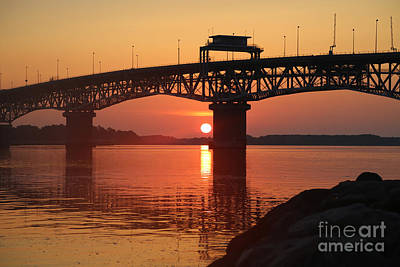 Photograph - Coleman Bridge Dawn by Lara Morrison