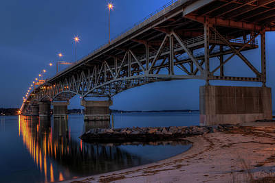 Photograph - Coleman Bridge by Jerry Gammon