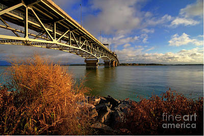 Photograph - Coleman Bridge Under Blue Skies by Karen Jorstad