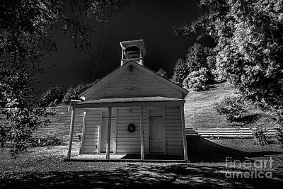 Photograph - Coleman Valley Schoolhouse Road Infrared Black And White #1 by Blake Webster