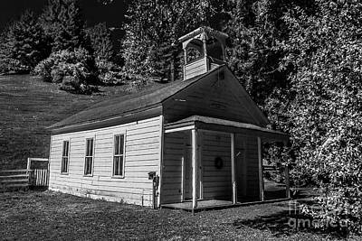 Photograph - Coleman Valley Schoolhouse Road Infrared Black And White #2 by Blake Webster