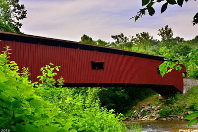Photograph - Colemanville Covered Bridge by Lisa Wooten