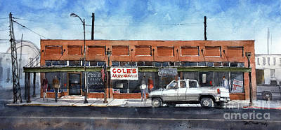 Painting - Coles Army Surplus by Tim Oliver
