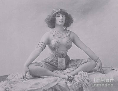 Seated Nude Girl Photograph - Colette by French School