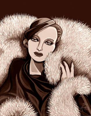 Colette In Sepia Tone Art Print by Tara Hutton