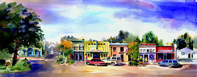 Painting - Colfax Main And Church Street by Joan Chlarson