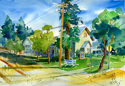 Painting - Colfax Methodist Church by Joan Chlarson