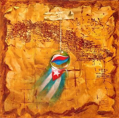 Painting - Colgando En Un Hilito by Roger Calle