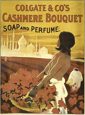 Digital Art - Colgate Cashmere Bouquet Advertising Poster by Phat Artz