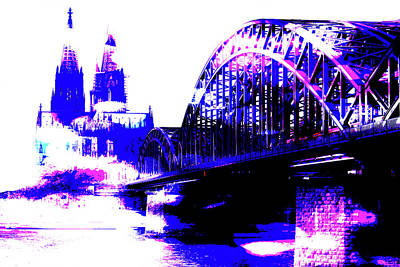 Built Structure Mixed Media - Colgne Rhine 002 by Ralph Klein