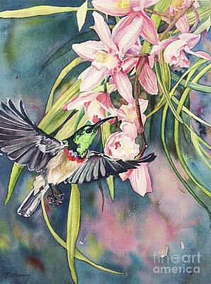 Colibri Painting - Colibri  by Francoise Chauray