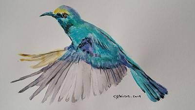 Colibri Painting - Colibri by Gleizes Jean-Marie