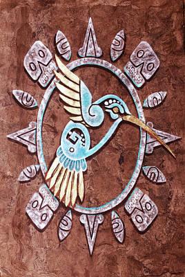 Painting - Colibri by J- J- Espinoza