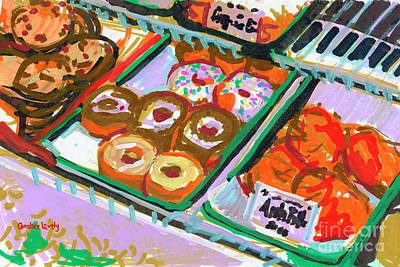 Donuts Drawing - Coligny Donuts by Candace Lovely